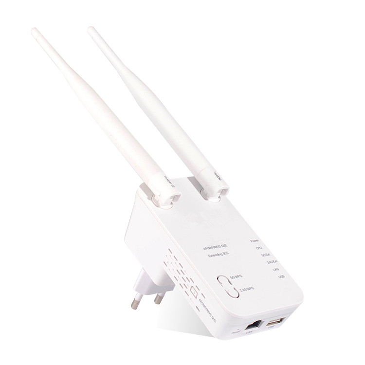 2.4G+5G Wireless dual band AC 750mbps wifi repeater price OEM brands repeater