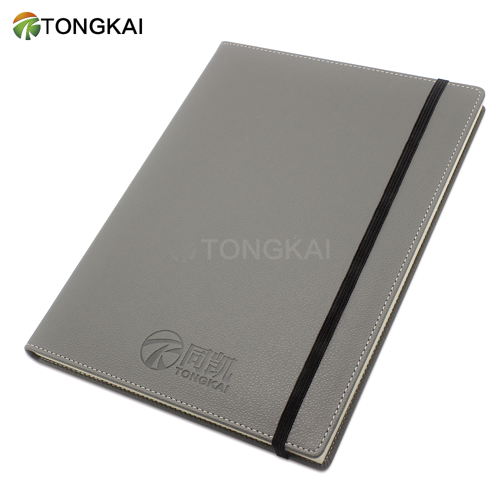 A4 Logo Emboss Executive Personal Organiser Ruled Notebook Pu Leather Cover diaries