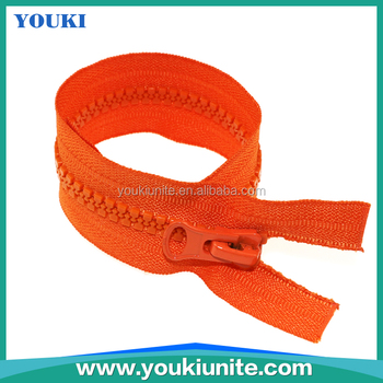 8# Woven Tape Plastic Zipper Open-end With Auto Lock Thumb Puller YKP-2026