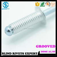 ALUMINUM GROOVED BLIND RIVETS FOR WOOD