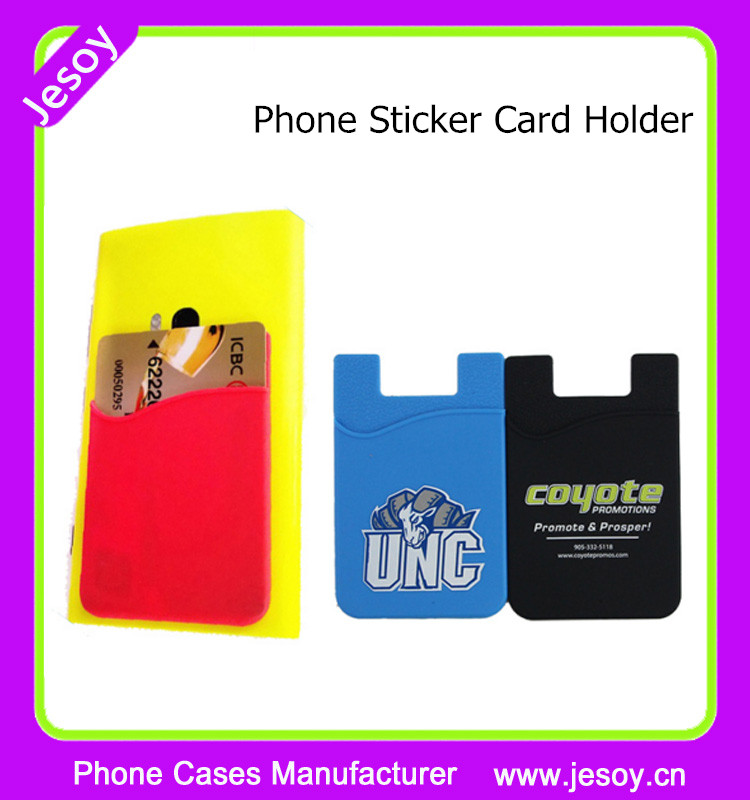 JESOY 3M Adhesive Silicone Back Stick Wallet Mobile Phone Card Holder