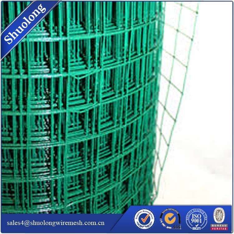 PVC plastic coated welded wire mesh for garden fence