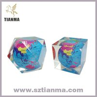 Clear glass global paperweight kits