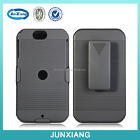 Black Rubberized Hard Case Belt Clip Holster Shell Combo Stand Case for Motorola XT626