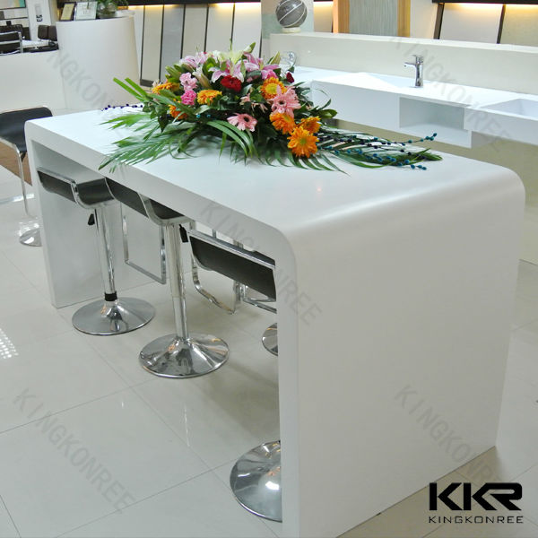Solid surface marble long bar table