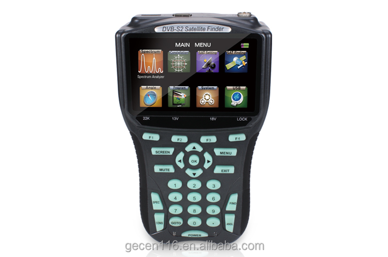 GECEN hd satellite finder meter digital satellite finder HDTV programs in full color LCD