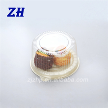 good price 6 inch clear plastic single torta cupcake box