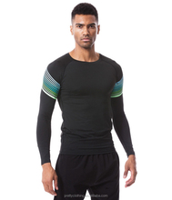 Mens Cool Dry Compression Long Sleeve Lycra Fitness Sports Baselayer Underlayer T shirt