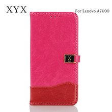 superior smart phone custom clasp metal logo flip cover leather case for lenovo a7000