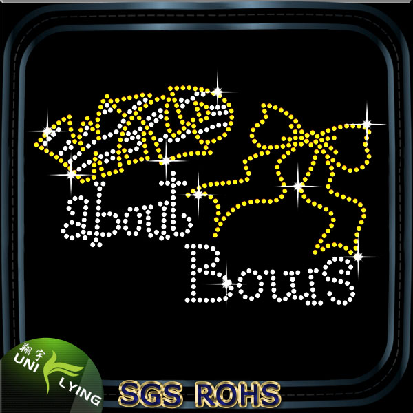 Wild about bows heat transfer rhinestone motif