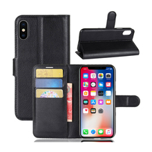 Litchi Pattern PU Leather Stand Phone Case For Iphone X 8 8Plus 7 7Plus Protect Cover
