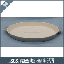 Wholesale eco-friendly oval ceramic oven safe dinner plates for baking