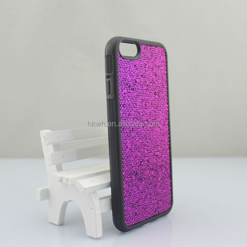 Factory Price Sparkling Coating Surface Soft Silicon Skin Cover Case For iphone 6/6plus