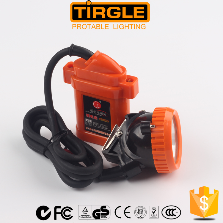 Underground cordless rechargeable saftey led miner cap lamp