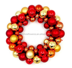 Decorative Artificial christmas wreath shining ball christmas wreath