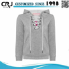 Custom Women's Pullover Lace Up Hoodies 100% Cotton