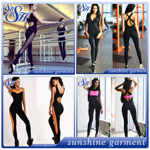 2017 Chinese gym fitness spandex sports rompers jumpsuits for women