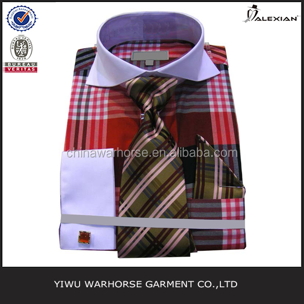 Provide OEM service wholesale mens dress shirts with tie