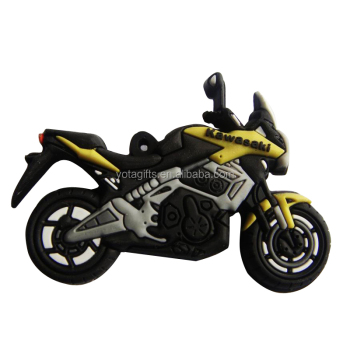 Hot Sale 2 sides 3D motorcycle custom rubber keychain