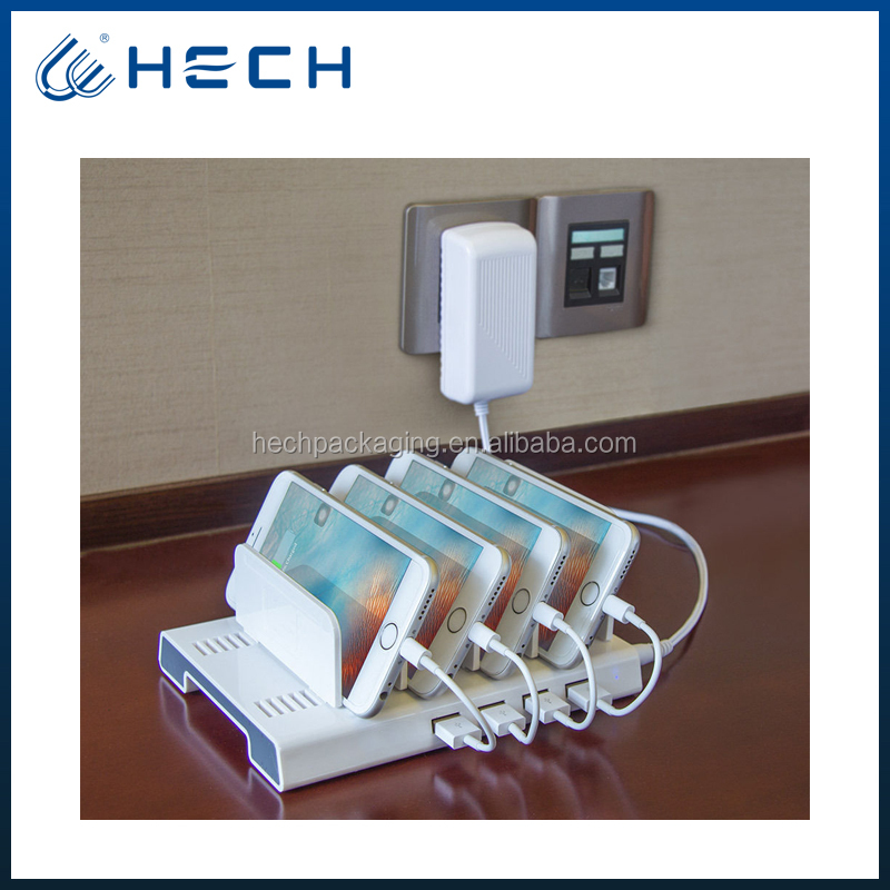 4 USB ports charging dock for cell phone charging station