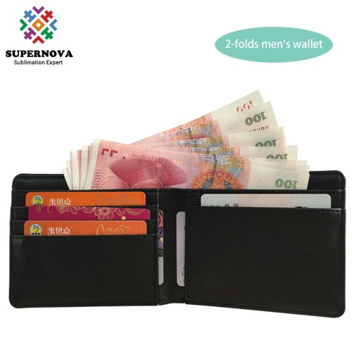 Blank Sublimation Small Wallet, Blank Leather Men Purse