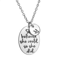 Custom inspirational pendant necklace jewelry wholesale for women