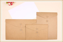 Retro Kraft Paper Erect File Party Document Bag Pocket Envelope A4 Filing Paper Bags Expanding File Pouch Holder