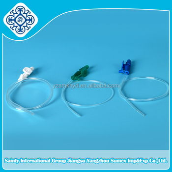 Suction Catheter with thumb control ( cap-cone ) connector/ plain connector/T connector/Y connector