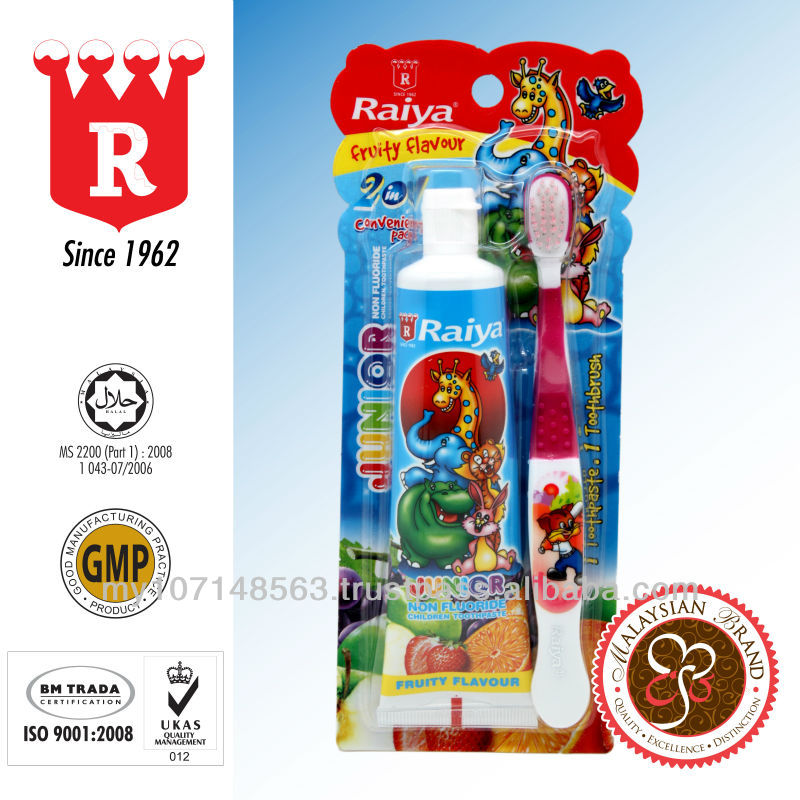 RAIYA Junior Toothpaste (Fruity Flavour) with Toothbrush