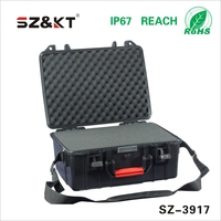 Plastic case with rubber handle