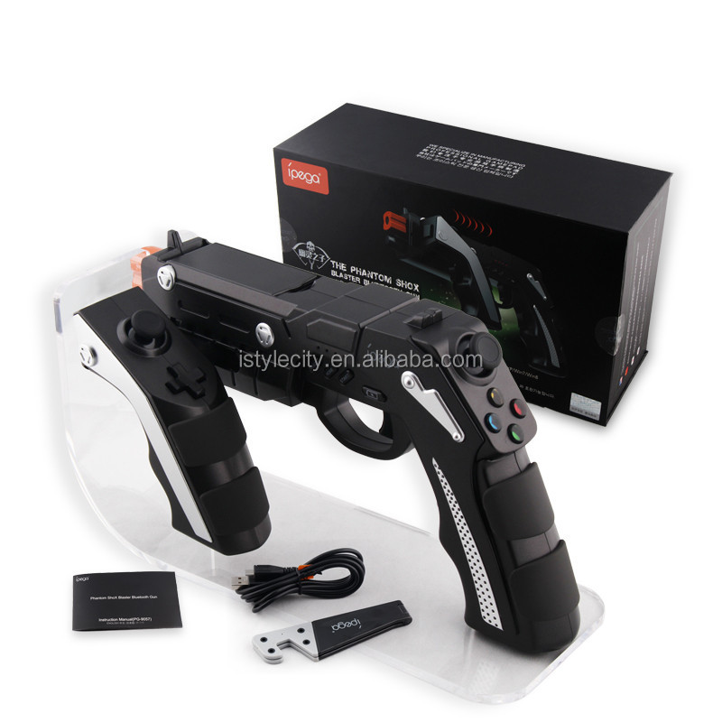 PG-9057 Wireless Bluetooth Game Gun Controller Joysticker Gamepad For Cellphone iPad TV Box