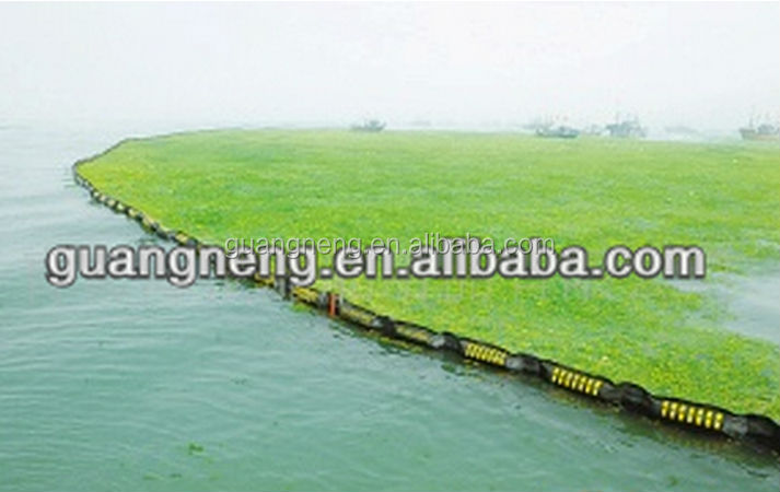 rubber oil boom/oil dam/seaweed barrier on sea