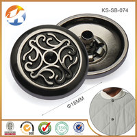 Hight End Quality Metal Embossed Fasteners Snap Button For Garment/Clothes