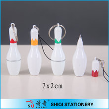 2014 promotional bowling shape mini short Ball Pen with string