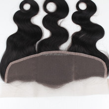 8A Virgin Brazilian Hair Full Lace Frontal Closures 13x4 Straight Human Hair Ear To Ear Lace Frontal Bleached