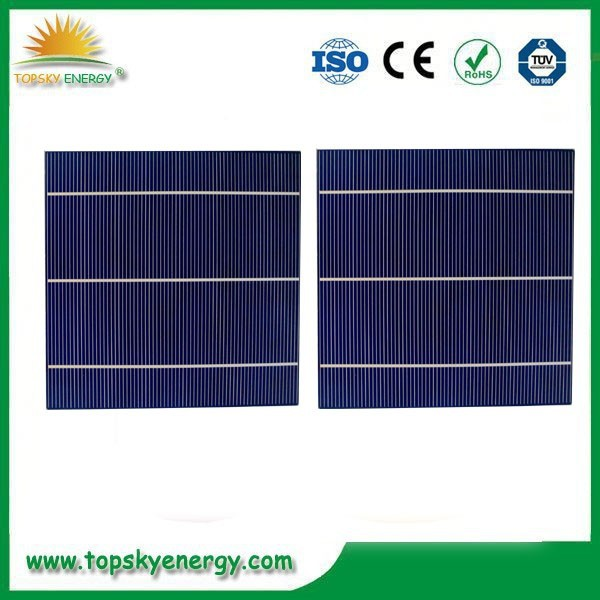 China Manufacturer 156mm grade A polycrystalline solar cell