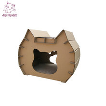 OEM Customized Hot Selling Eco-Friendly Cardboard Cat Houses New Style Popular Pet House
