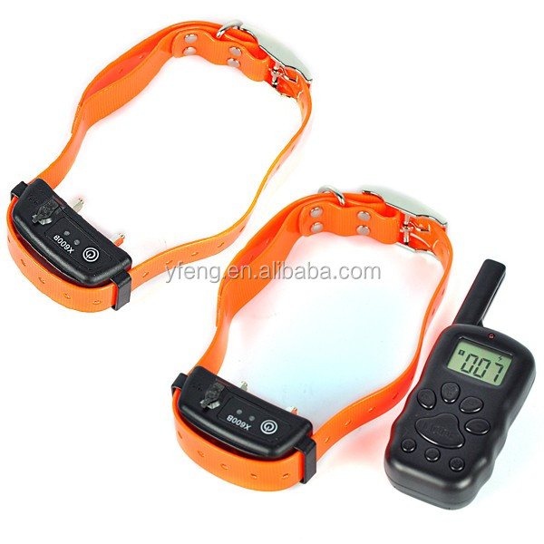 Wireless 100 Level Furry Behavior For two dogs With LCD Display