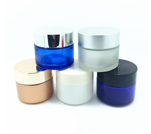 factory wholesale 5g-100g cosmetic face cream glass jars with sifter and lid for cream