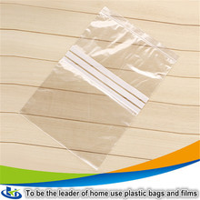 Daily use store items custom printed plastic t shirt bags 5mil resealable plastic zipper bags