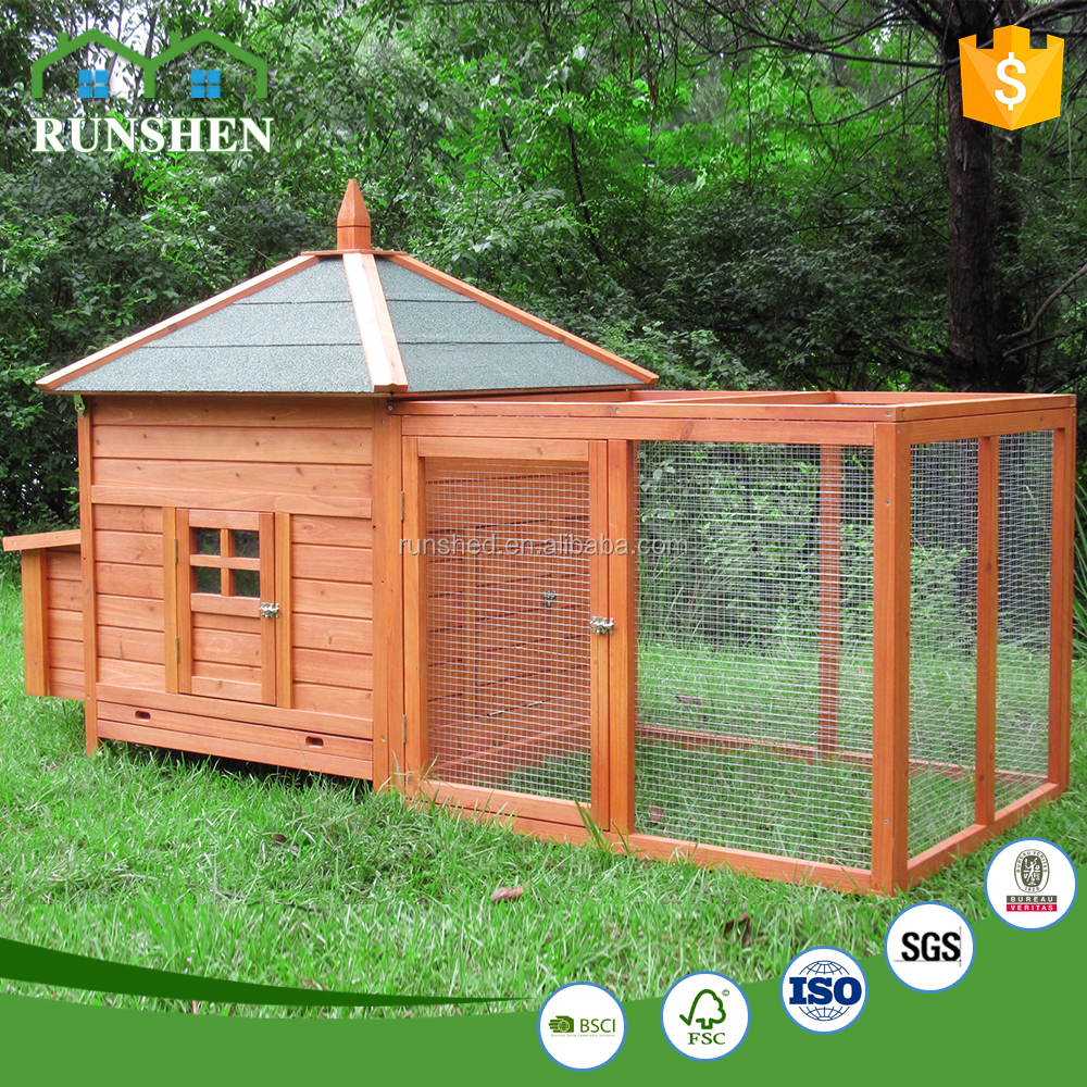 Hot Sale Wooden chicken coop Pet Cages With Outdoor Run