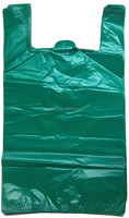 HDPE/LDPE Green D2W Plastic Vest Carrier Bag