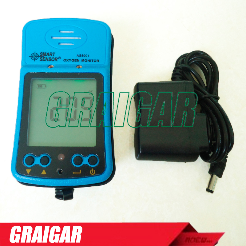 AS8901 portable oxygen measuring instrument oxygen detector <strong>O2</strong> tester concentration detector LCD display Gas Analyzer Alarm