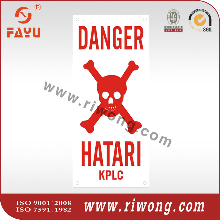 danger hatari plates for substations