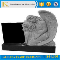 european monument weeping angel monument absolute black tombstone for cemetry