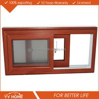 AS2047 High Quality window price philippines online sliding window, pvc sliding window designs wood color