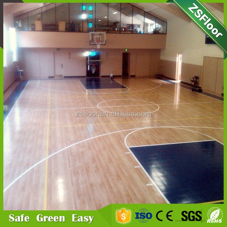 High quality basketball court pvc laminate flooring for indoor