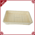 Rectangular rattan woven table storage baskets for food display