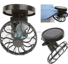 Promotion Outdoor Clip On Hat Cap Mini Portable Solar Fan / Camping Outdoor Fishing Portable Solar Fan