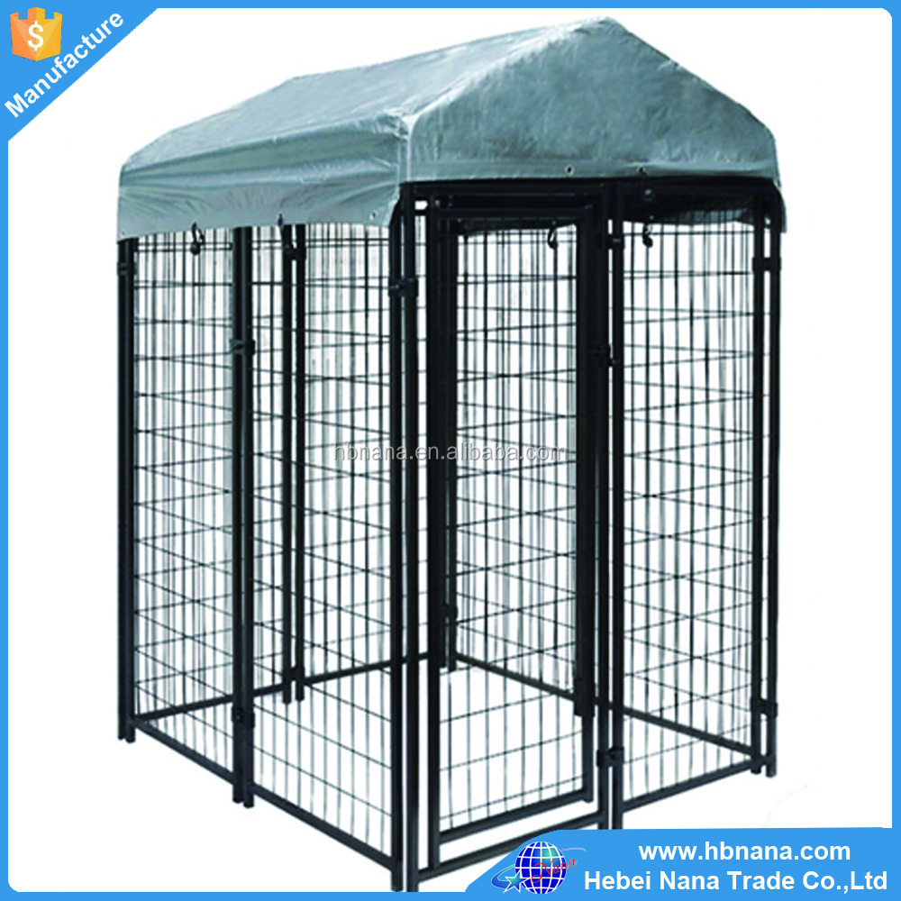 Galvanized iron dog kennel / pvc dog kennel